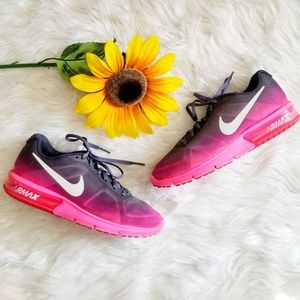 Nike Air Max Sequent Pink/Grey Athletic Shoes